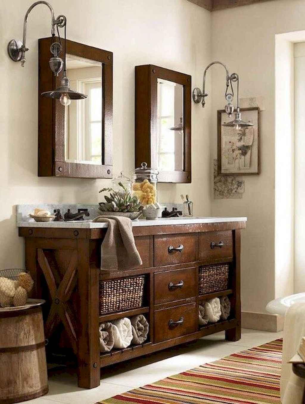 125 awesome farmhouse bathroom vanity remodel ideas (15)