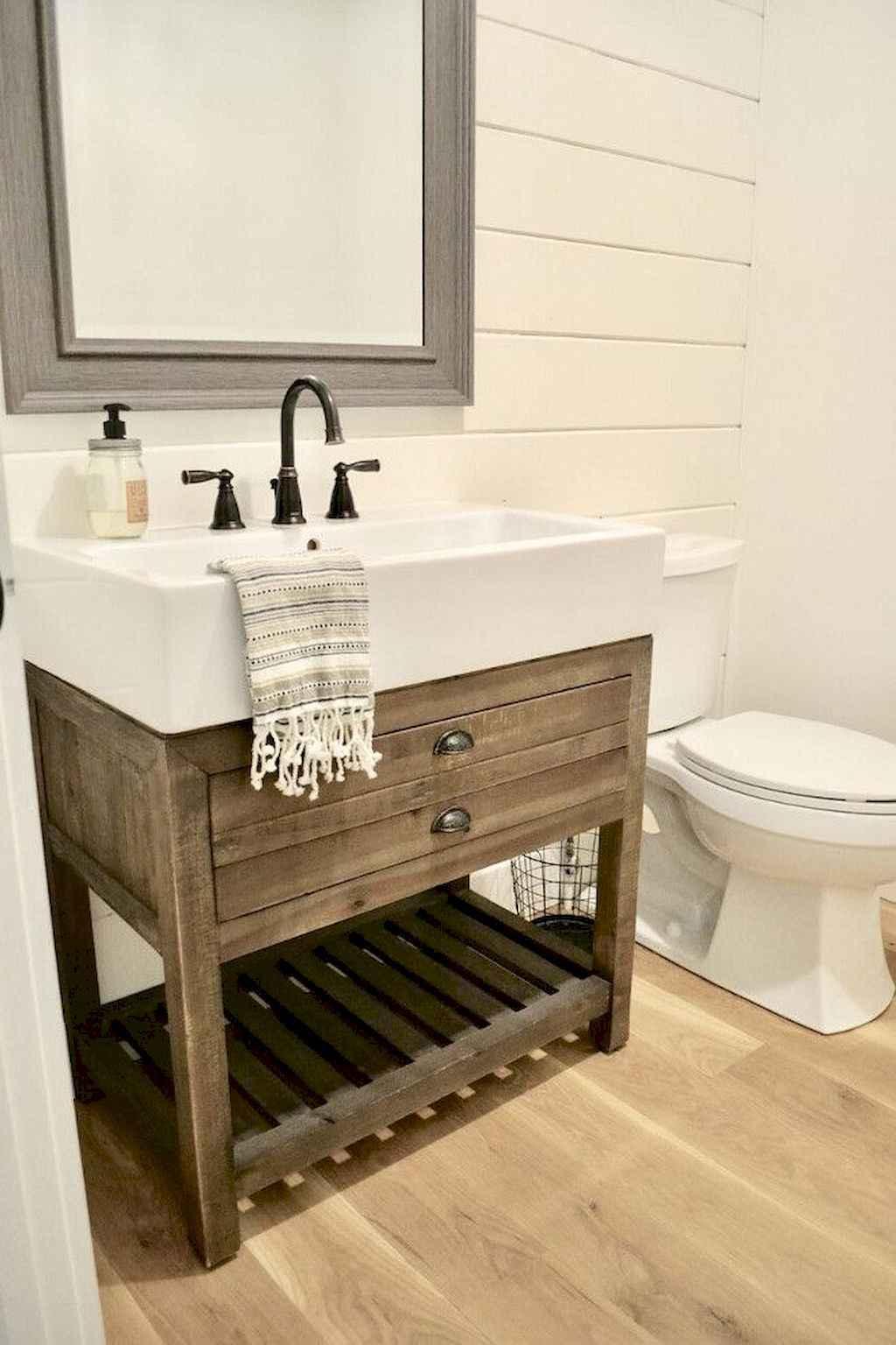 125 awesome farmhouse bathroom vanity remodel ideas (41)
