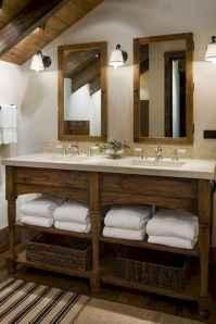 125 awesome farmhouse bathroom vanity remodel ideas (51)