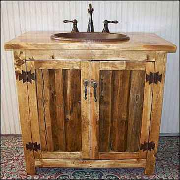125 awesome farmhouse bathroom vanity remodel ideas (61)