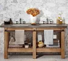 125 awesome farmhouse bathroom vanity remodel ideas (76)