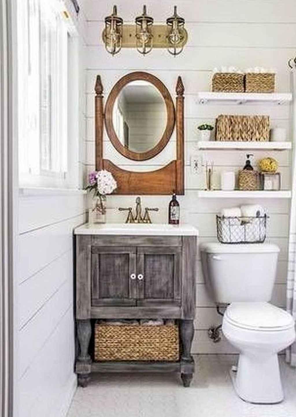125 awesome farmhouse bathroom vanity remodel ideas (9)