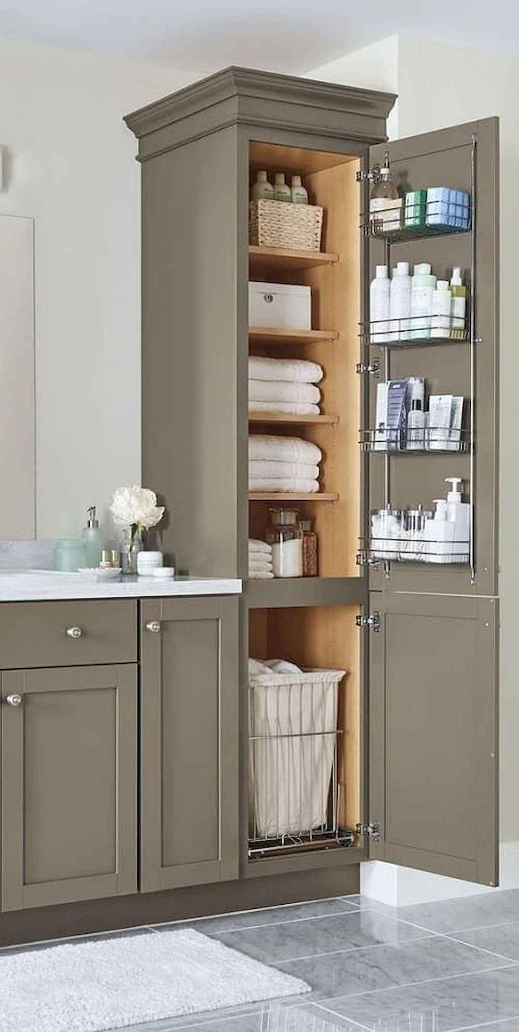 125 awesome farmhouse bathroom vanity remodel ideas (96)