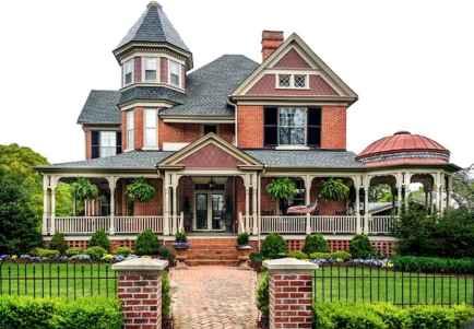 80 awesome victorian farmhouse plans design ideas (42)