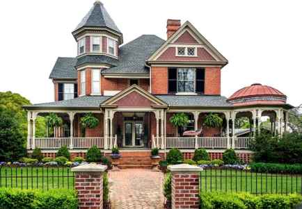 80 awesome victorian farmhouse plans design ideas (42)