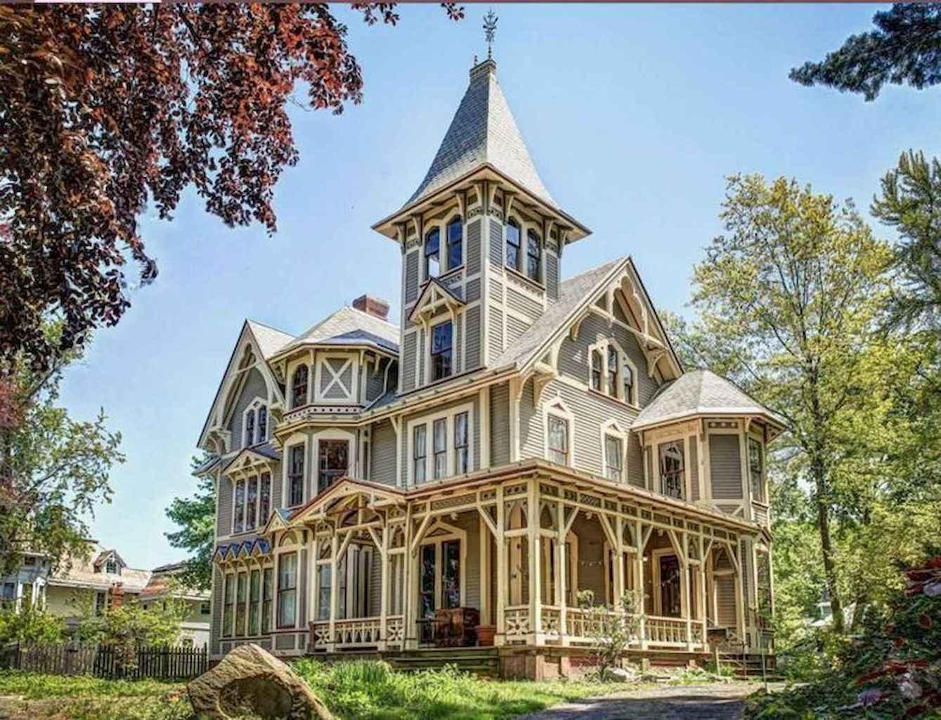 80 awesome victorian farmhouse plans design ideas (48)