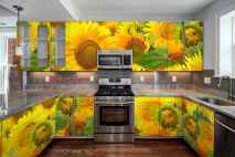 Best 40 colorful kitchen cabinet remodel ideas for first apartment (18)