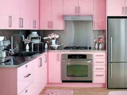 Best 40 colorful kitchen cabinet remodel ideas for first apartment (30)