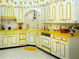 Best 40 colorful kitchen cabinet remodel ideas for first apartment (34)