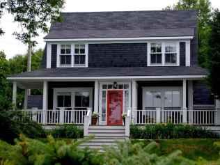 35 handsome black house exterior decor ideas (15)