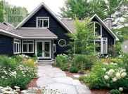 35 handsome black house exterior decor ideas (16)
