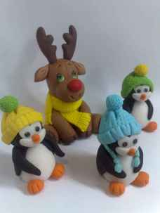 50 easy to try diy polymer clay christmas design ideas (28)