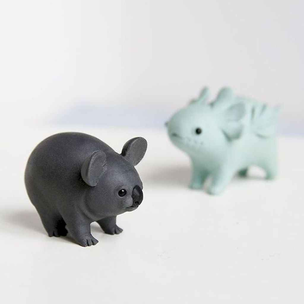 55 easy to try diy polymer clay animals design ideas (10)