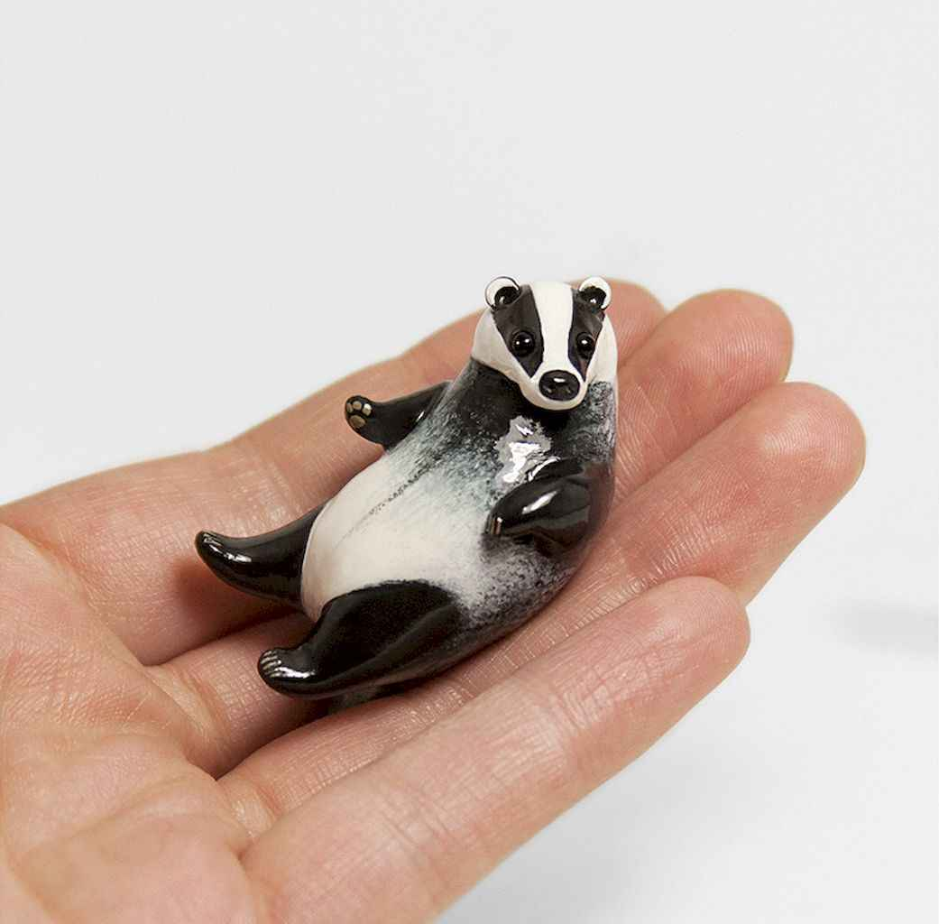 55 easy to try diy polymer clay animals design ideas (24)