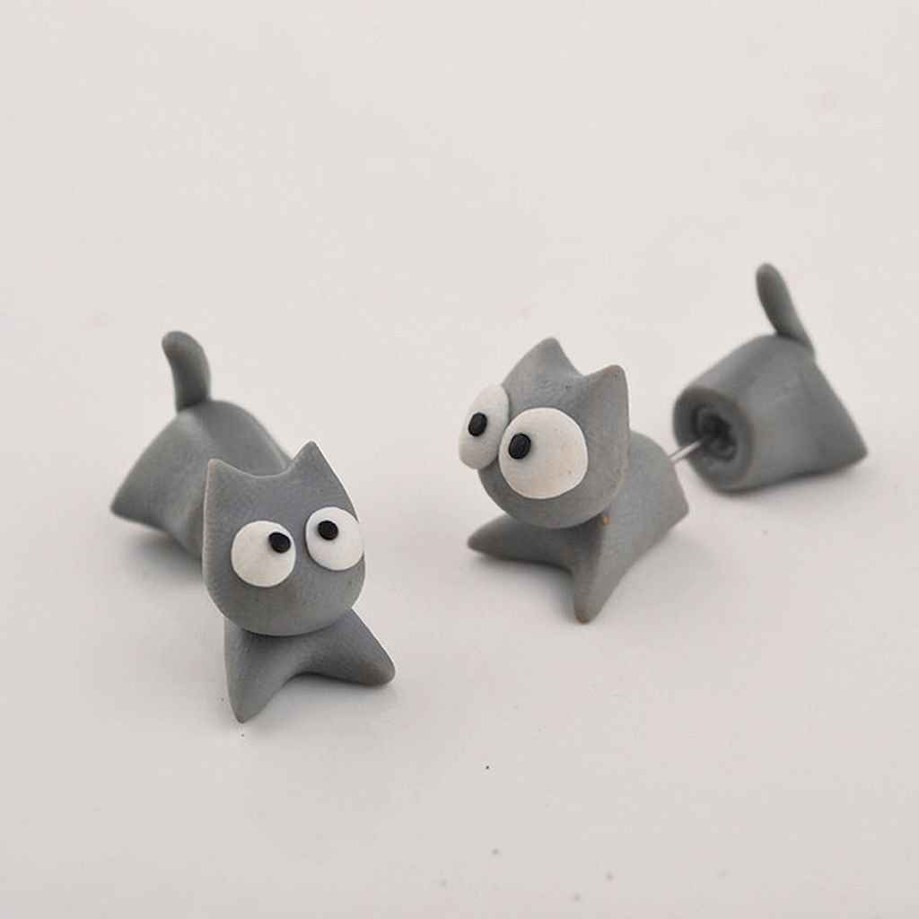 55 easy to try diy polymer clay animals design ideas (48)