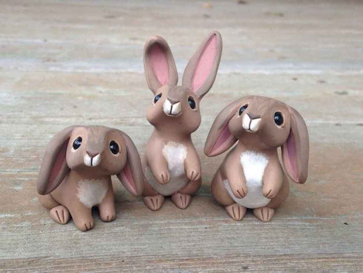 55 easy to try diy polymer clay animals design ideas (50)