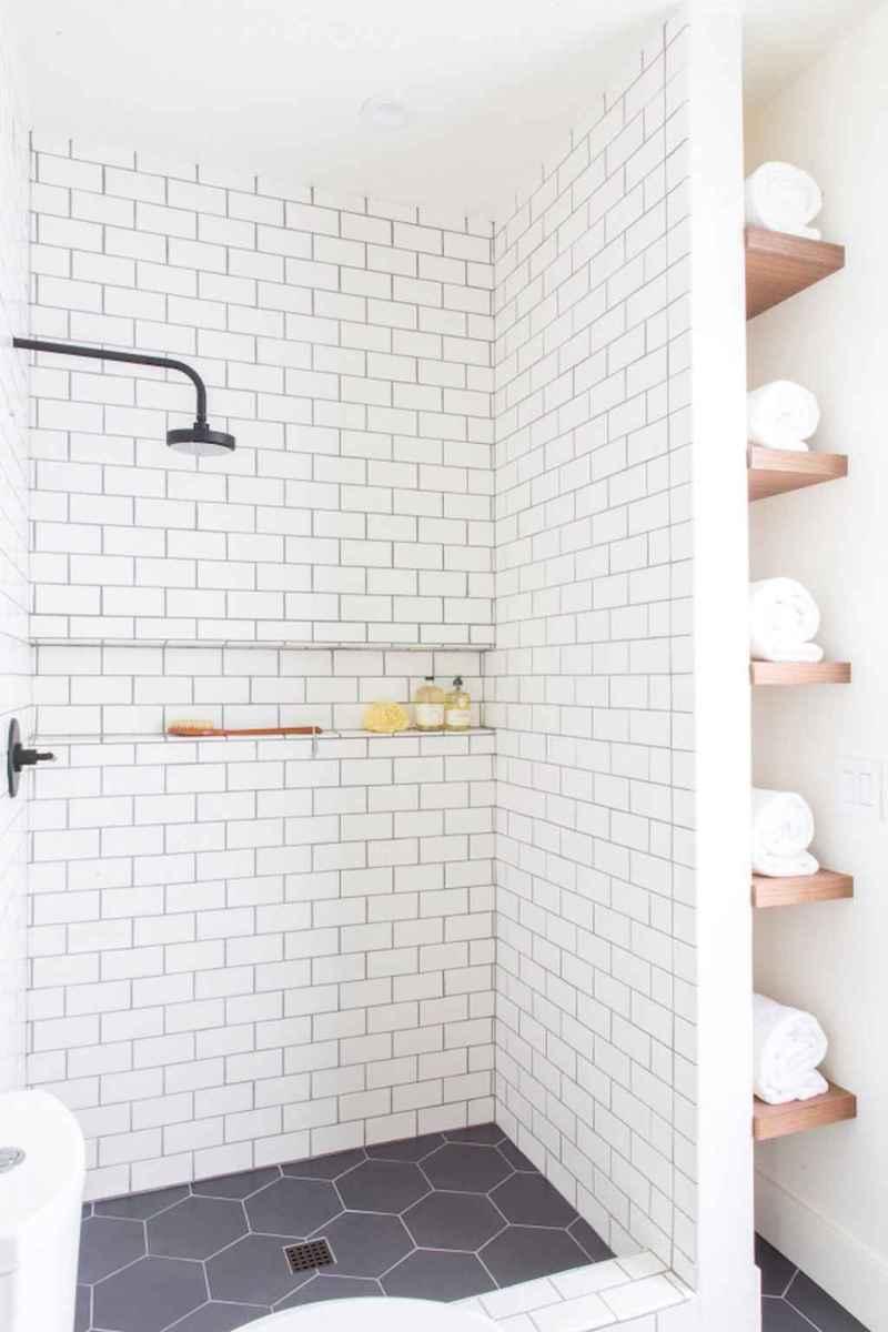 100 best farmhouse bathroom tile shower decor ideas and remodel to inspiring your bathroom (10)