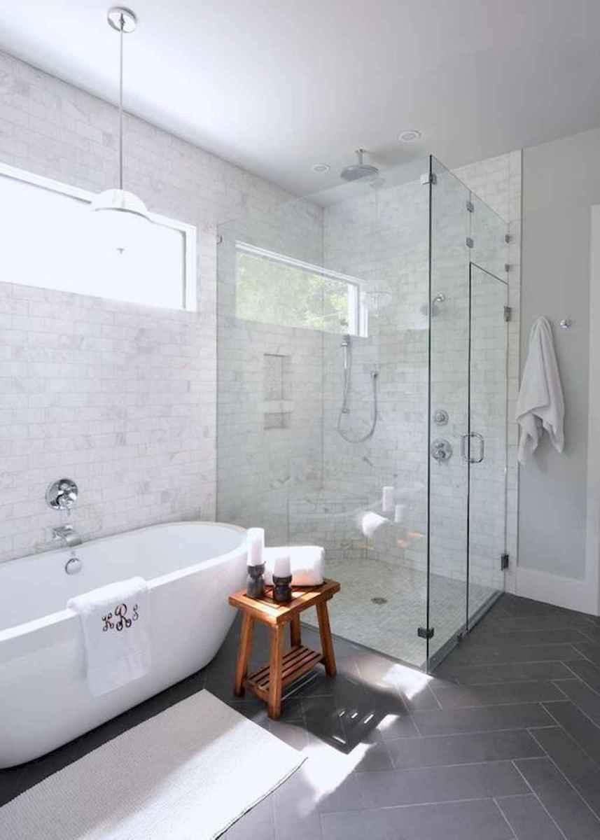 100 best farmhouse bathroom tile shower decor ideas and remodel to inspiring your bathroom (17)
