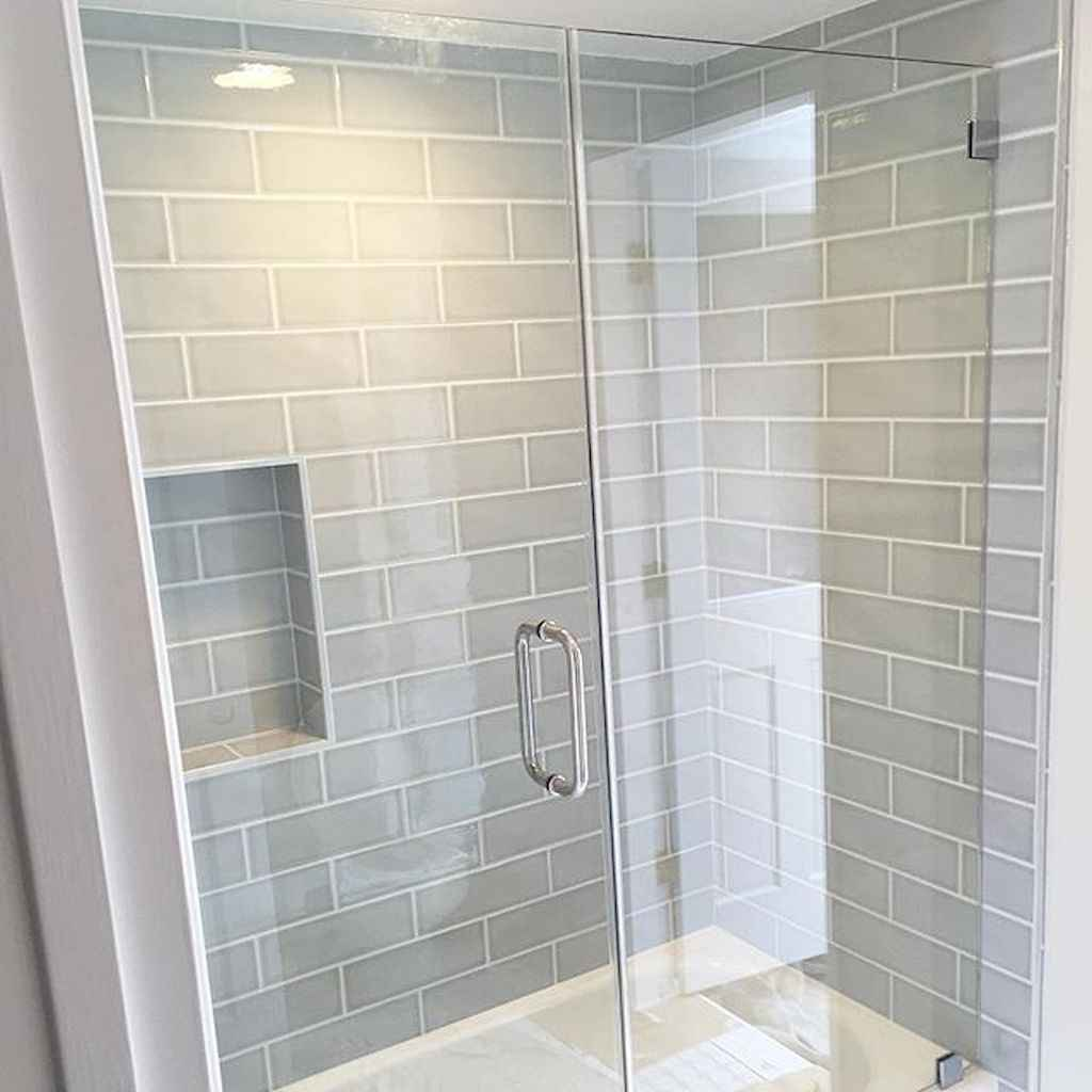 100 best farmhouse bathroom tile shower decor ideas and remodel to inspiring your bathroom (27)