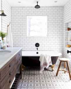 100 best farmhouse bathroom tile shower decor ideas and remodel to inspiring your bathroom (4)