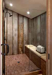 100 best farmhouse bathroom tile shower decor ideas and remodel to inspiring your bathroom (51)