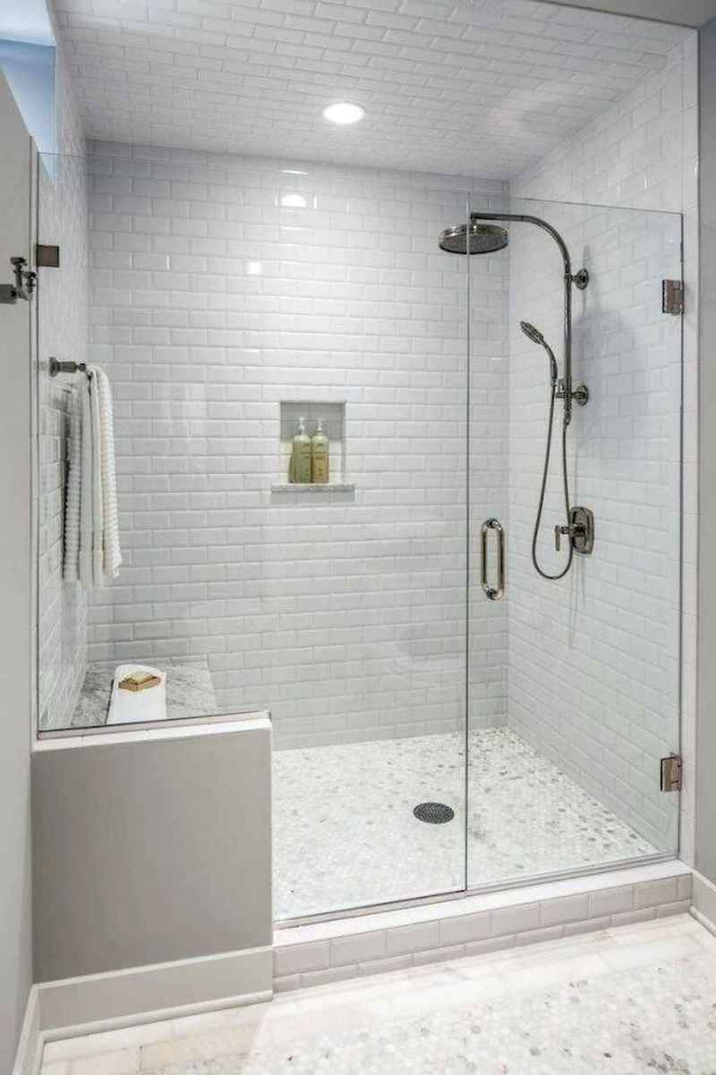 100 best farmhouse bathroom tile shower decor ideas and remodel to inspiring your bathroom (61)