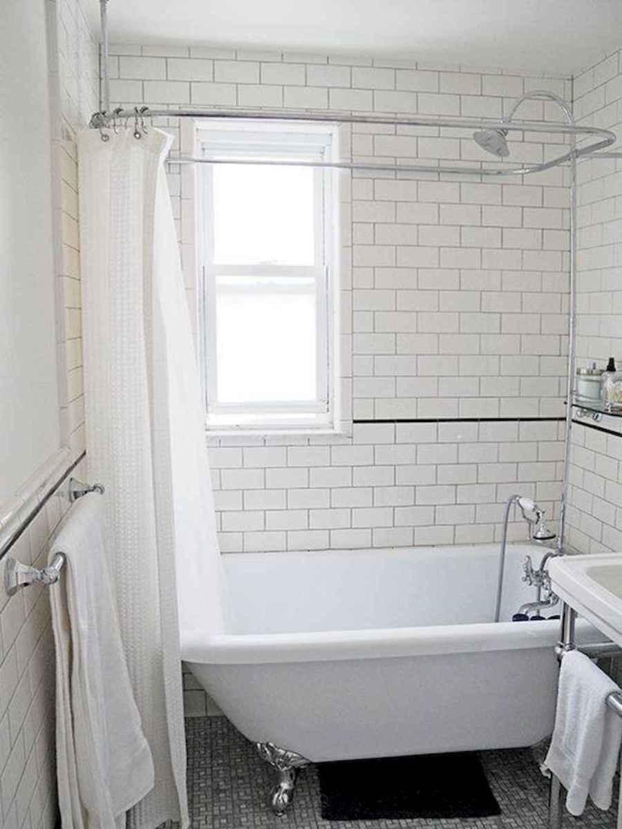100 best farmhouse bathroom tile shower decor ideas and remodel to inspiring your bathroom (67)