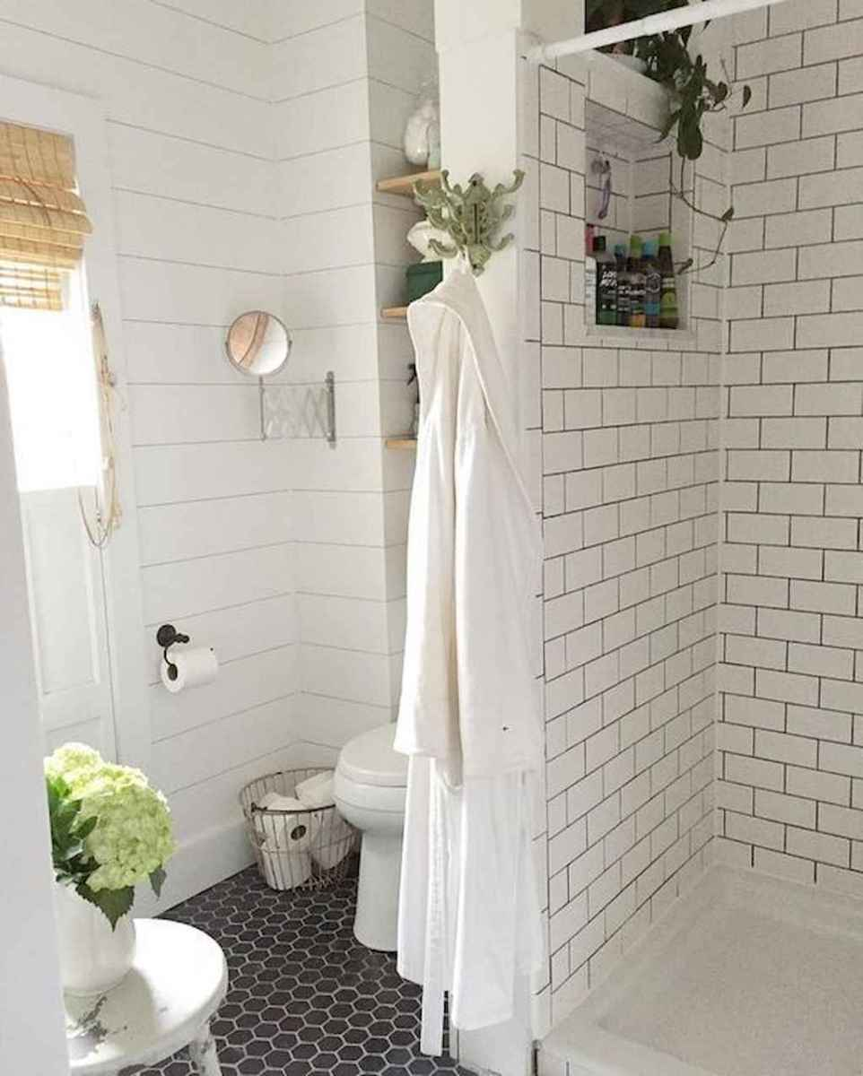 100 best farmhouse bathroom tile shower decor ideas and remodel to inspiring your bathroom (7)