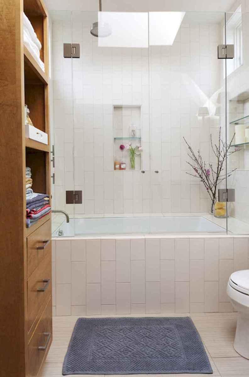 100 best farmhouse bathroom tile shower decor ideas and remodel to inspiring your bathroom (75)