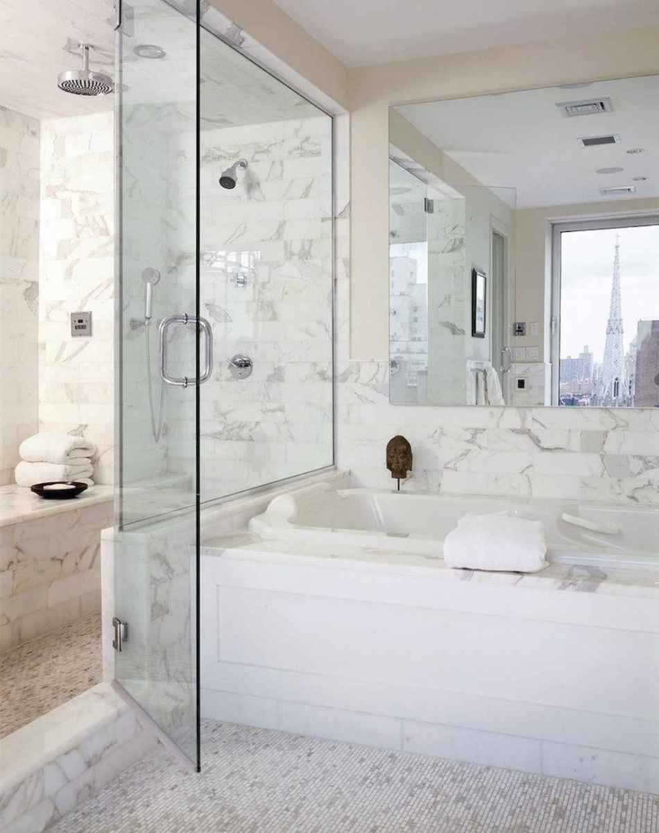 100 best farmhouse bathroom tile shower decor ideas and remodel to inspiring your bathroom (79)