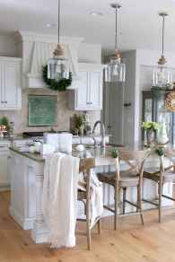 120 awesome farmhouse kitchen design ideas and remodel to inspire your kitchen (117)