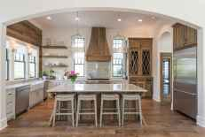 120 awesome farmhouse kitchen design ideas and remodel to inspire your kitchen (129)