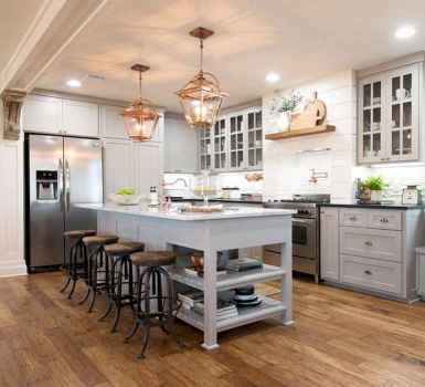 120 awesome farmhouse kitchen design ideas and remodel to inspire your kitchen (23)