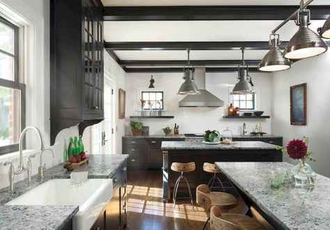 120 awesome farmhouse kitchen design ideas and remodel to inspire your kitchen (32)