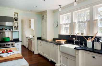 120 awesome farmhouse kitchen design ideas and remodel to inspire your kitchen (35)