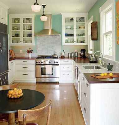 120 awesome farmhouse kitchen design ideas and remodel to inspire your kitchen (98)
