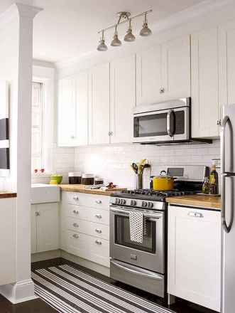 120 beautiful small kitchen design ideas and remodel to inspire your kitchen beautiful (24)