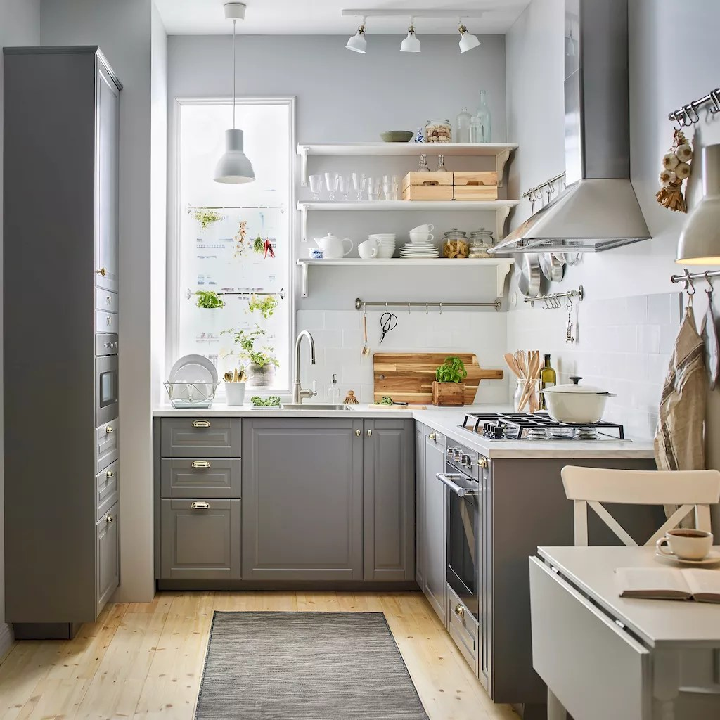 120 beautiful small kitchen design ideas and remodel to inspire your kitchen beautiful (60)