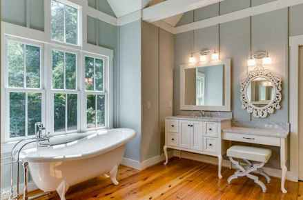 120 best modern farmhouse bathroom design ideas and remodel to inspire your bathroom (33)