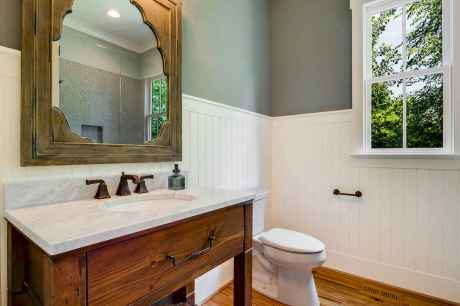 120 best modern farmhouse bathroom design ideas and remodel to inspire your bathroom (57)