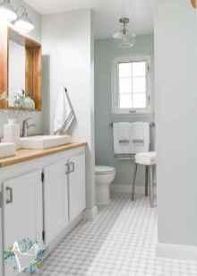 150 stunning farmhouse bathroom tile floor decor ideas and remodel to inspire your bathroom (109)