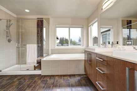150 stunning farmhouse bathroom tile floor decor ideas and remodel to inspire your bathroom (119)