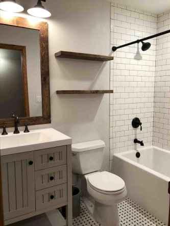 150 stunning farmhouse bathroom tile floor decor ideas and remodel to inspire your bathroom (133)
