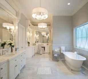 150 stunning farmhouse bathroom tile floor decor ideas and remodel to inspire your bathroom (135)