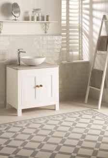150 stunning farmhouse bathroom tile floor decor ideas and remodel to inspire your bathroom (30)