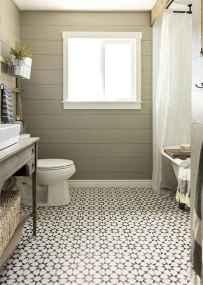 150 stunning farmhouse bathroom tile floor decor ideas and remodel to inspire your bathroom (52)