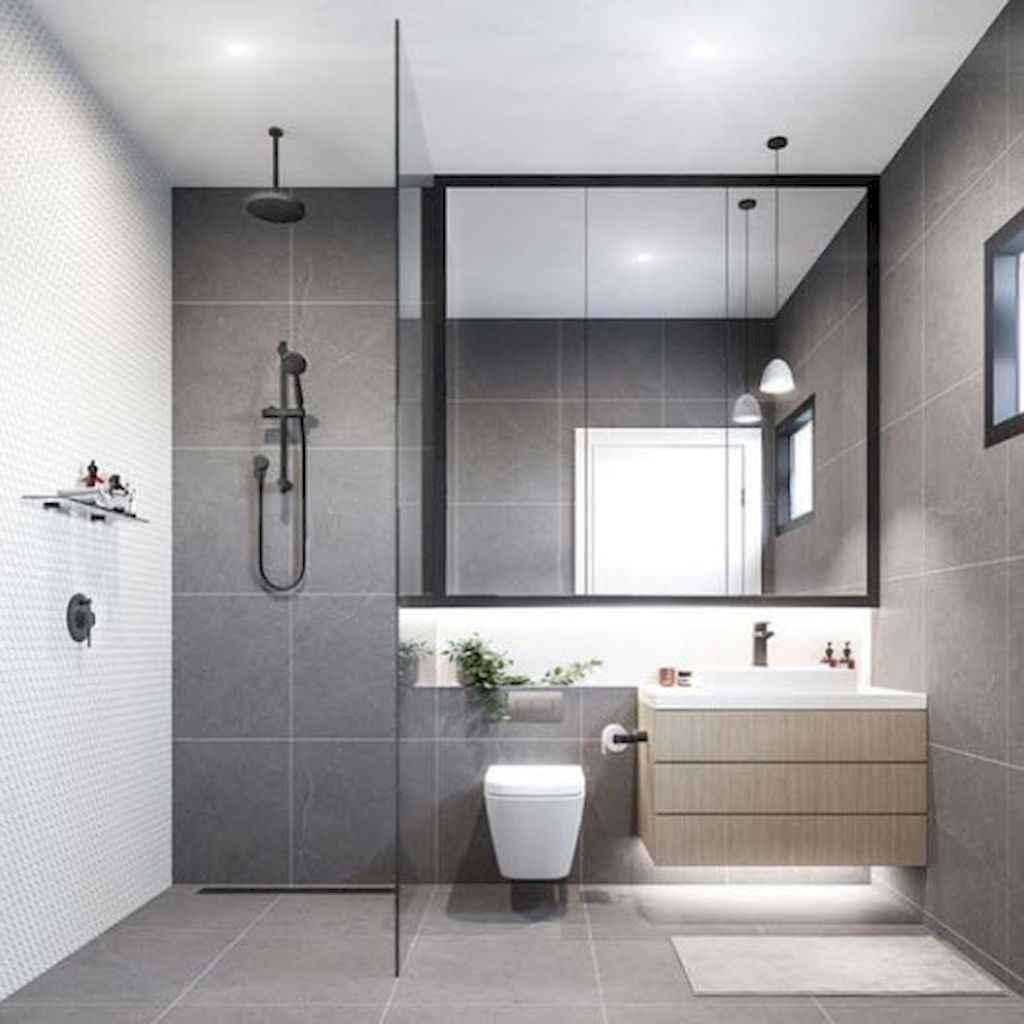 150 stunning farmhouse bathroom tile floor decor ideas and remodel to inspire your bathroom (54)