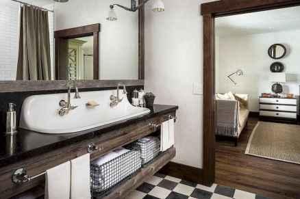 150 stunning farmhouse bathroom tile floor decor ideas and remodel to inspire your bathroom (62)