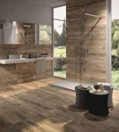 150 stunning farmhouse bathroom tile floor decor ideas and remodel to inspire your bathroom (65)