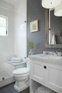 150 stunning farmhouse bathroom tile floor decor ideas and remodel to inspire your bathroom (70)
